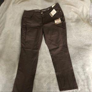 Sonoma Slim Straight Brown Khaki Stretch Pants
